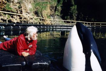 Jean-Michel Cousteau up close with Keiko