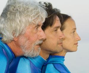 Jean-Michel, Fabien and Céline Cousteau - Photo by Carrie Vonderhaar