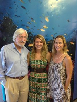 Jaclyn Mandoske with Jean-Michel Cousteau and Holly Lohuis
