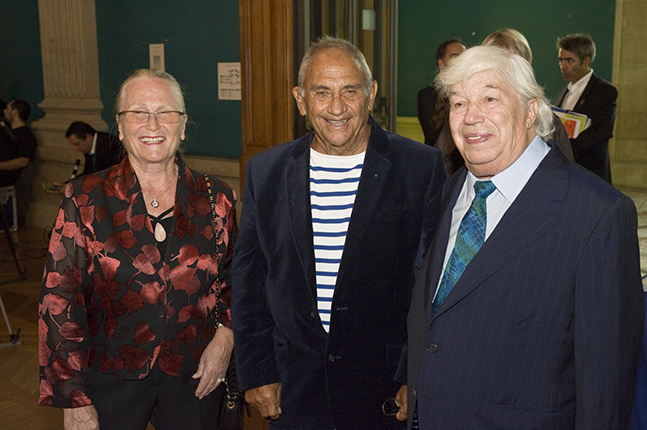 Monique Roux, Albert Falco and Jean-Charles Roux at an event in Monaco in 2010.