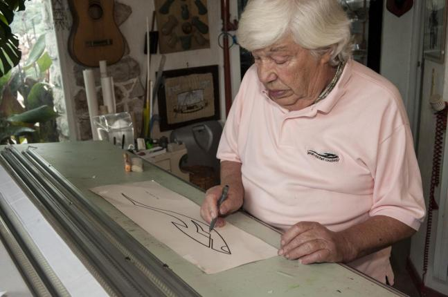 Jean-Charles Roux in his studio