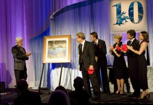 Fabien, Céline, Philippe, Jan and Jean-Michel Cousteau along with Robert Lynn Nelson honor Captain Cousteau's Life.