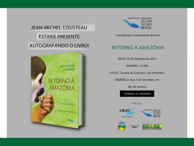 Invitation to Return to the Amazon Book launch in Rio