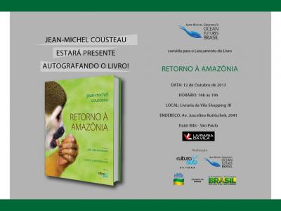 Invitation to Return to the Amazon Book launch in Sao Paulo
